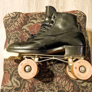 1950s black vintage roller skates betty lytle